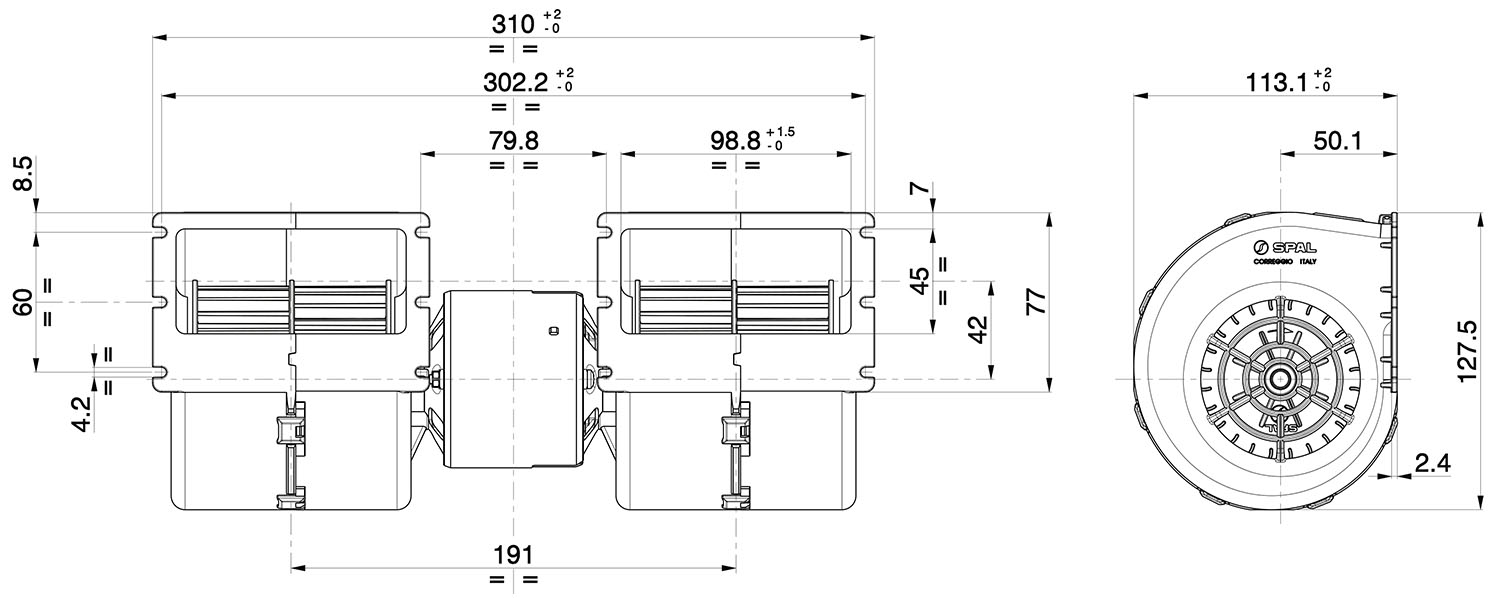 008-A45-02 Dimensioned Drawing