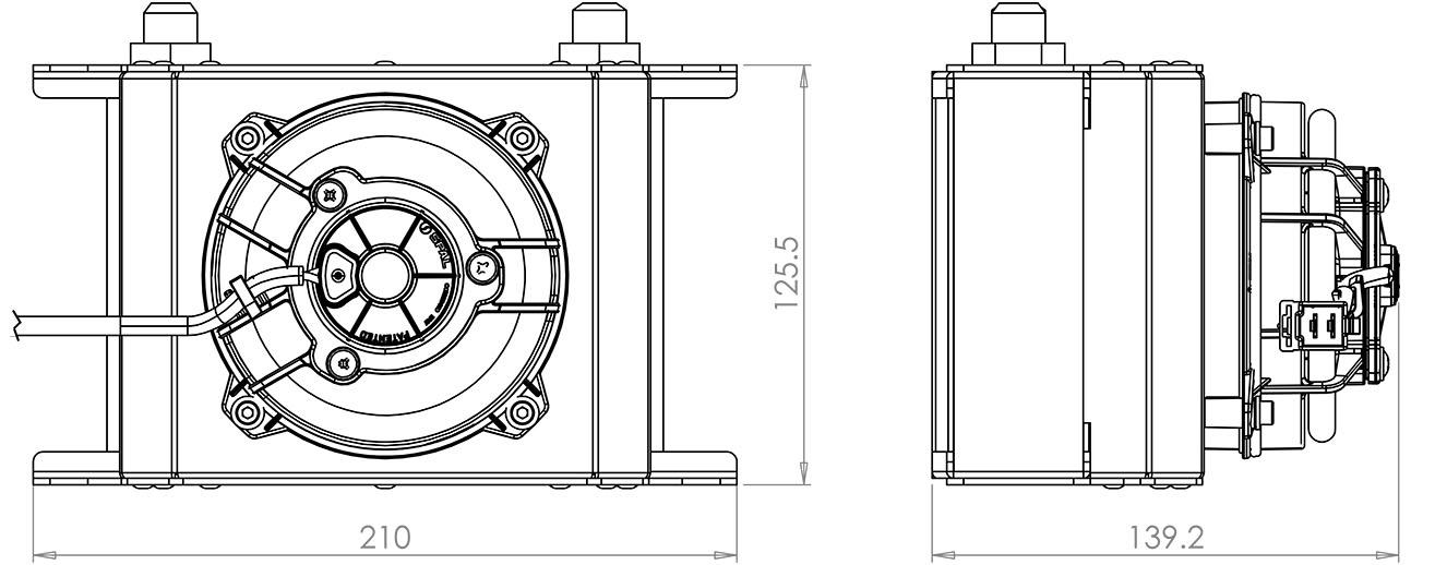 115mm 16 Row Oil Cooler Fan Shroud