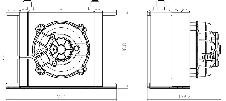 115mm 19 Row Oil Cooler Fan Shroud