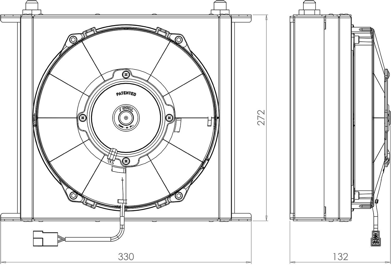 235mm 34 Row Oil Cooler Fan Shroud