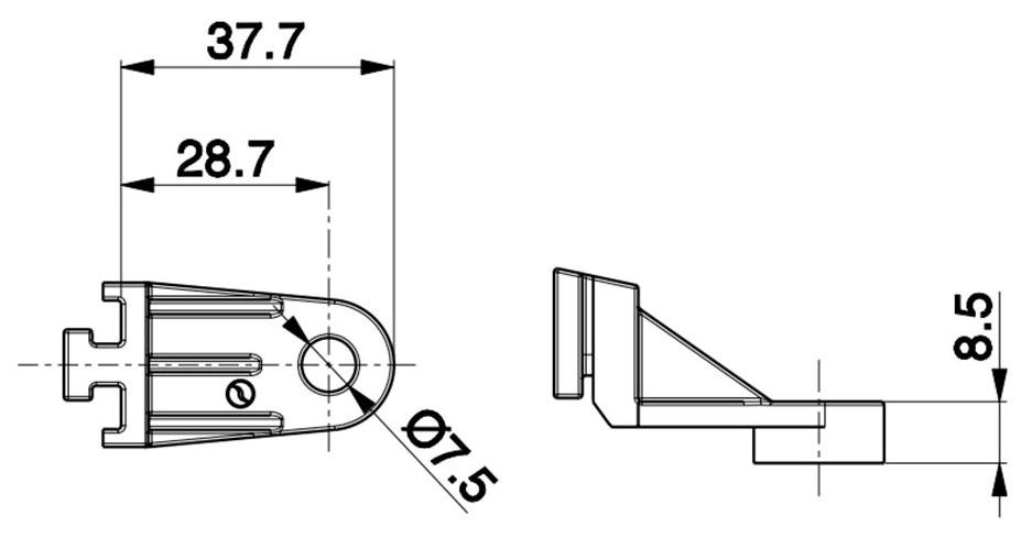 37mm SPAL Fan Bracket Dimensions
