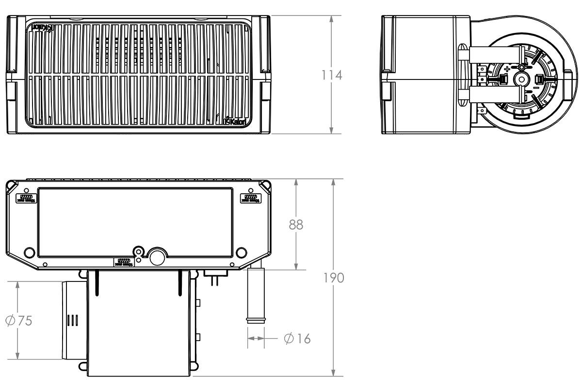 "AN10 Heater Rally Bulkhead Hose Adapter Narrow 13mm Kit Car 1//2/"" - AN10"