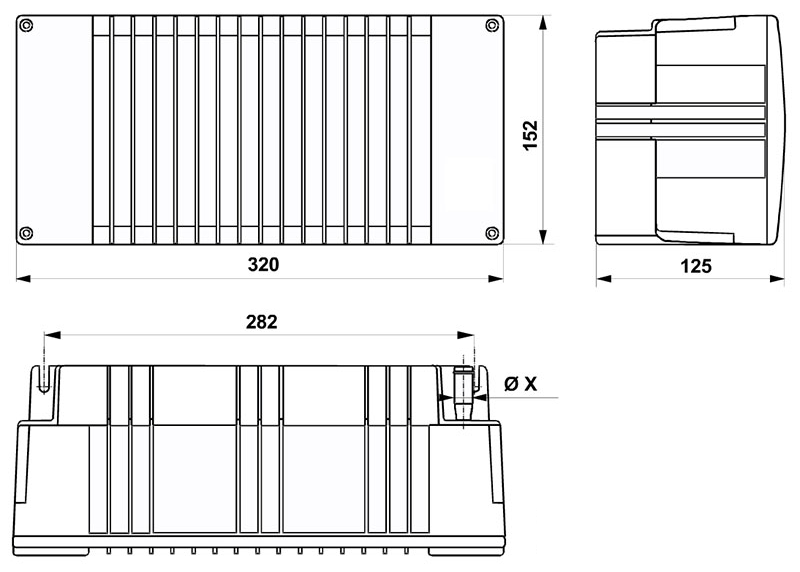 5.5kw Cabin Heater Dimensions