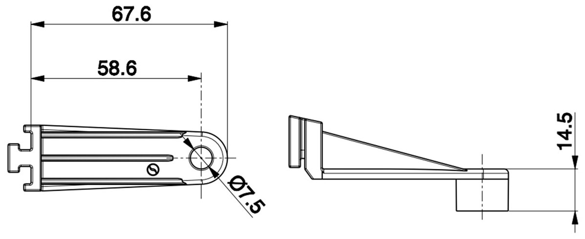 68mm SPAL Fan Bracket Dimensions