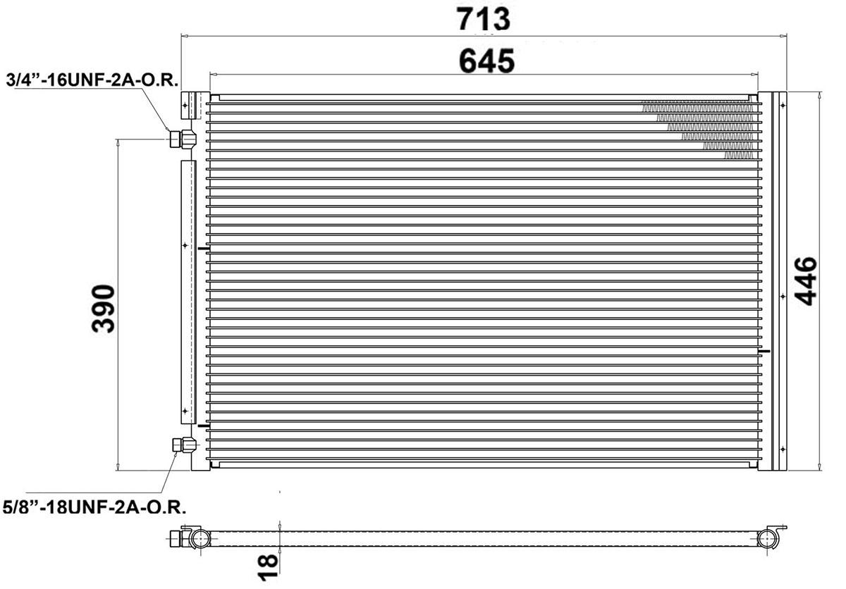 Universal AC Condenser Radiator 713 x 446mm