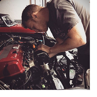 Owner of T7Design, Adam Mudge, hoping this is the last time this bludy supercharger has to be taken off!