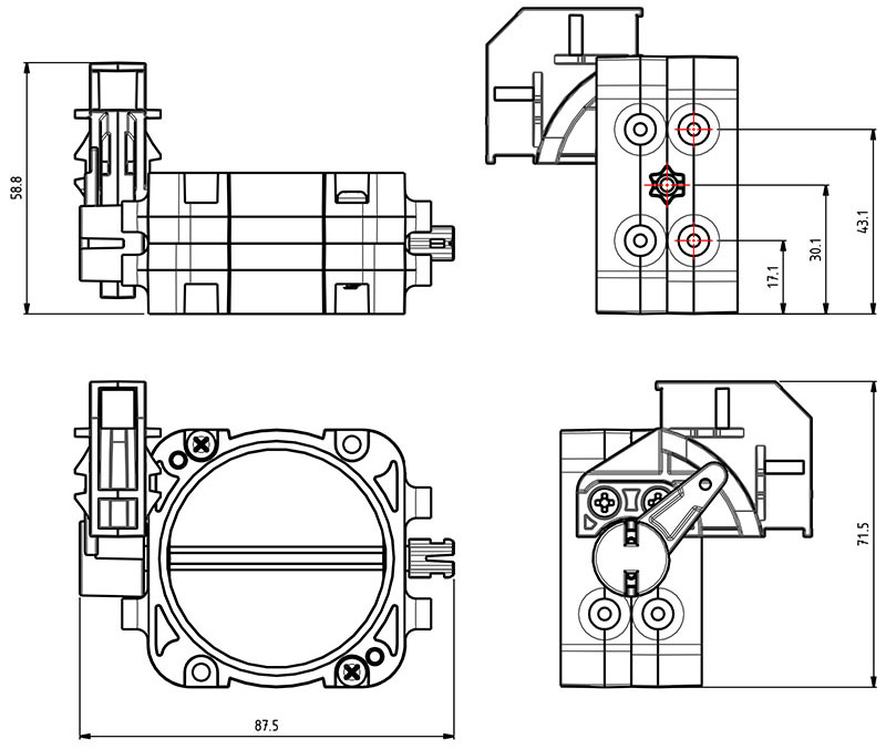 Electric Air Valve Junction Dimensions