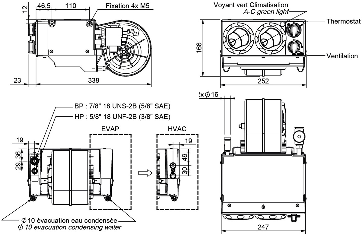 Compact Air Conditioning Unit Dimensions