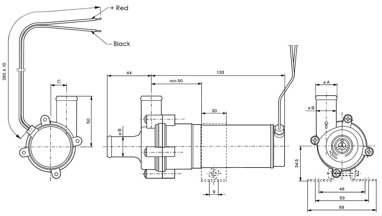 SPX Johnson Centrifugal Water Pump Dimensions