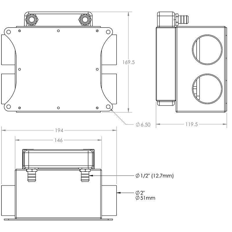 3.5kw Lightweight Heater Dimensions