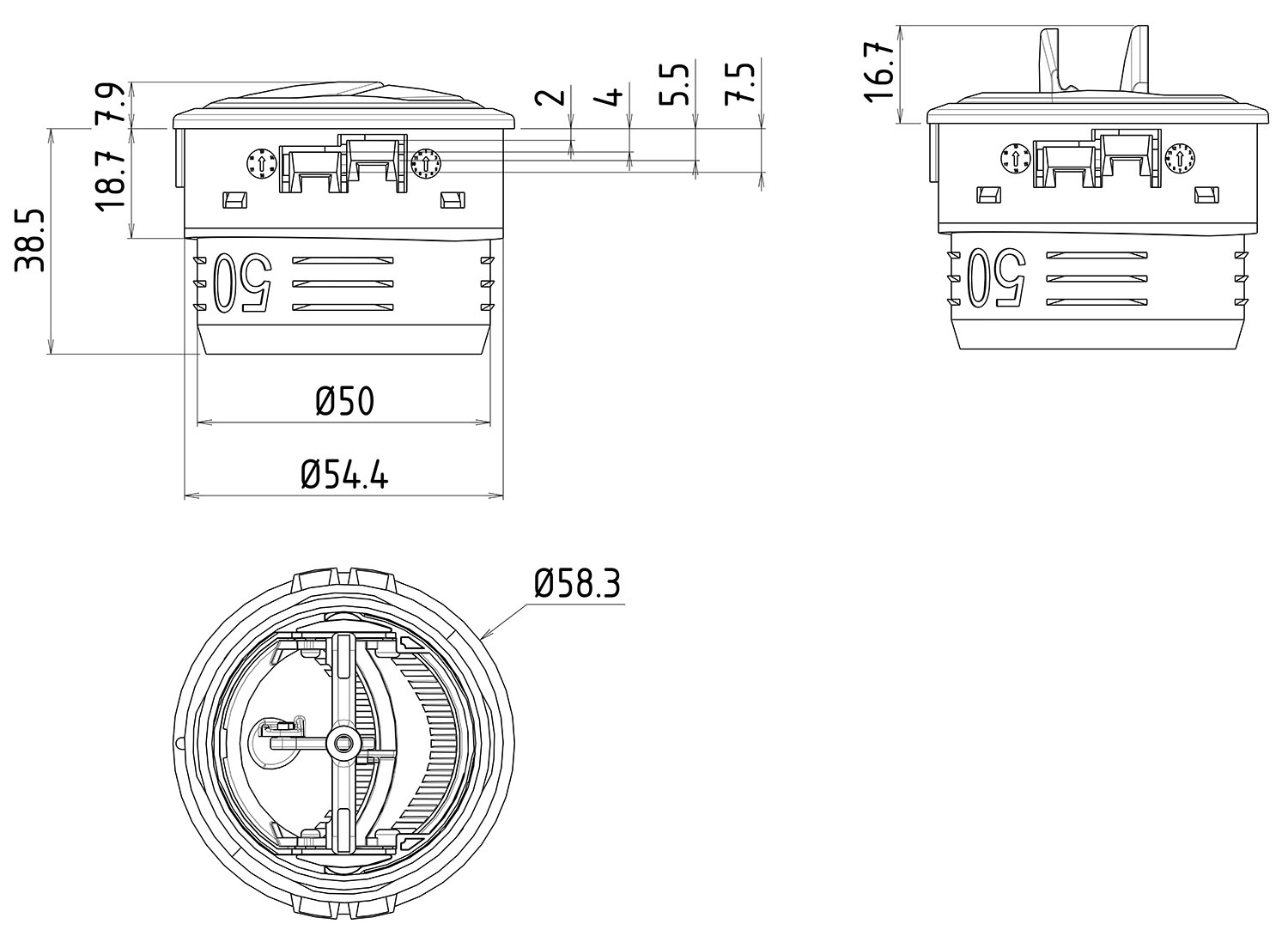 Small Round Air Vent Dimensions