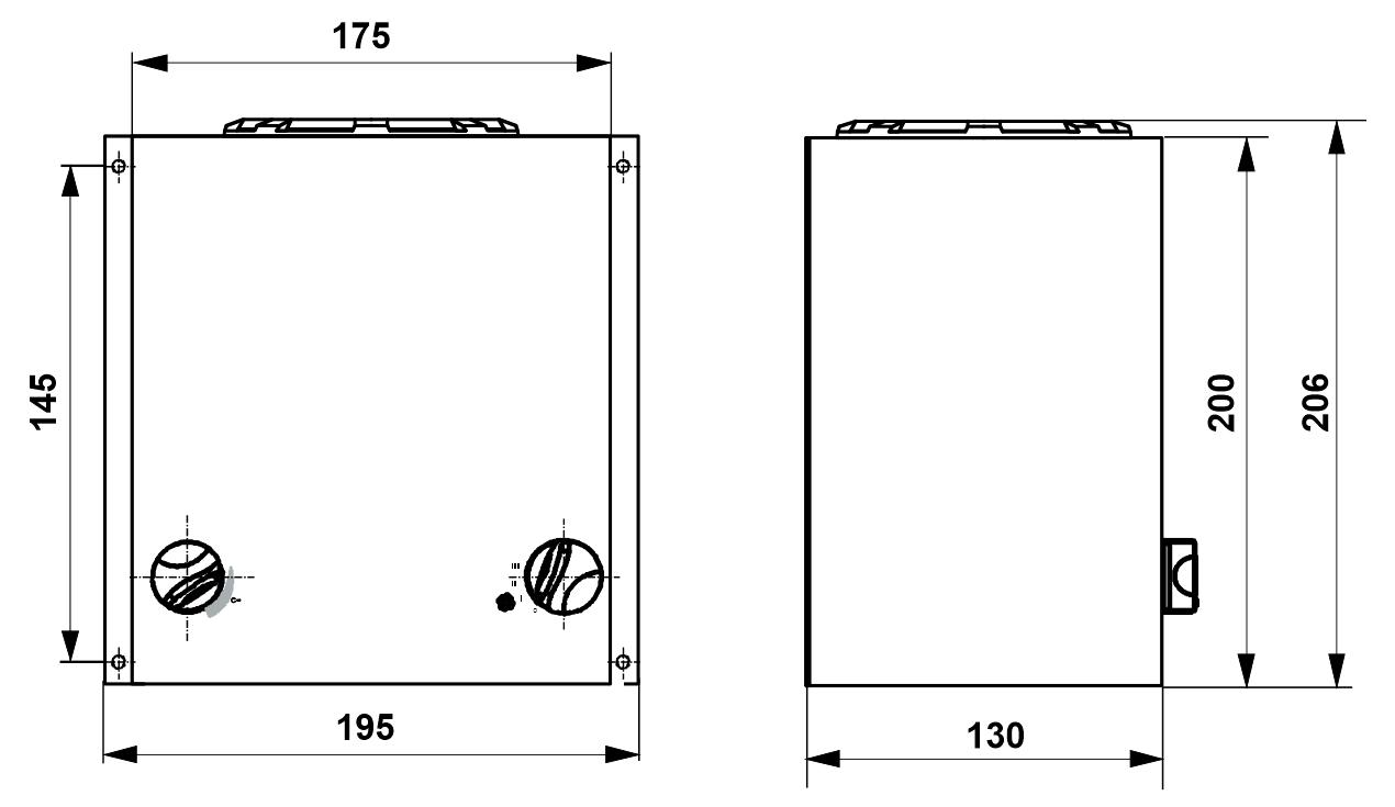 Standalone Cab Heater Dimensions