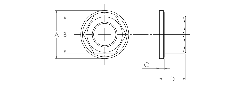 Titanium Lock Nut Dimensions