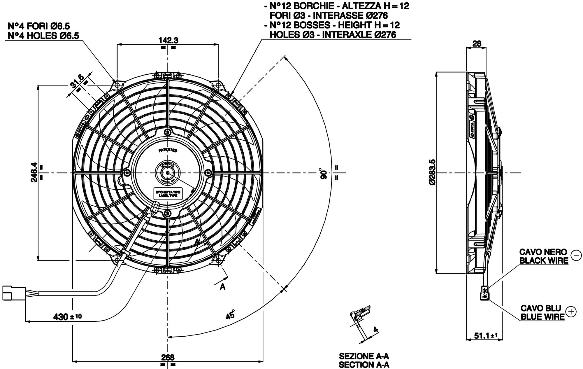 va11-ap7  c-57s - spal radiator fan