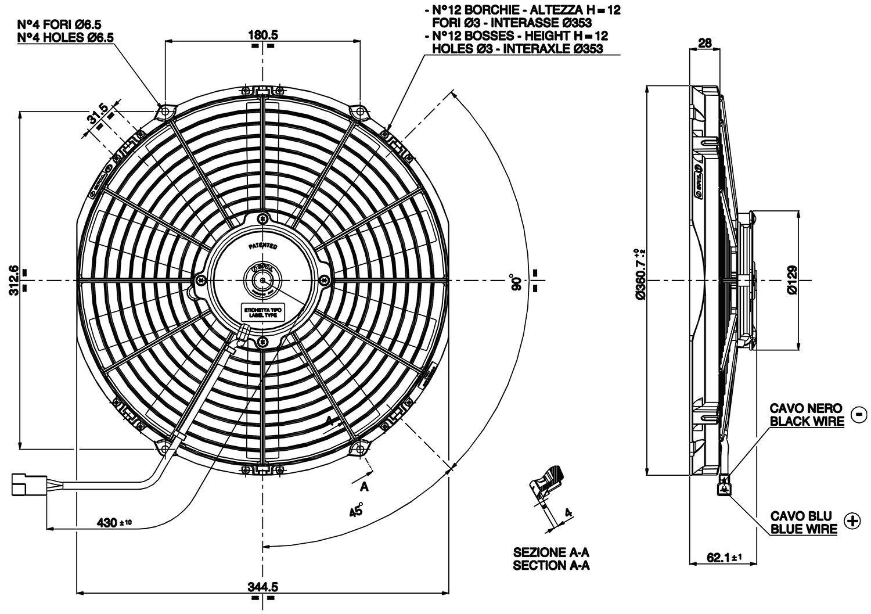 vehicle radiator fan 13 u0026quot  va13 c