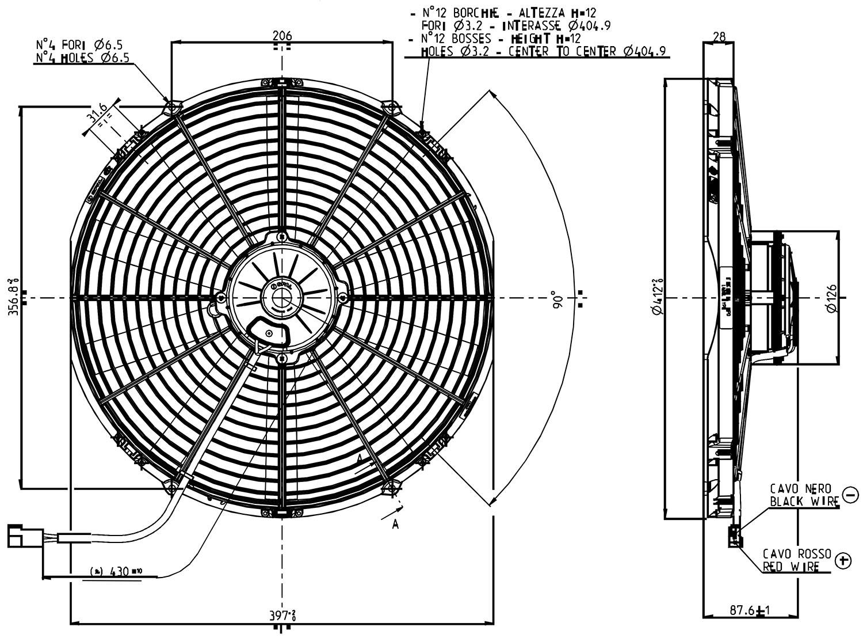 VA18-AP71LL-59 Dimensioned Drawing