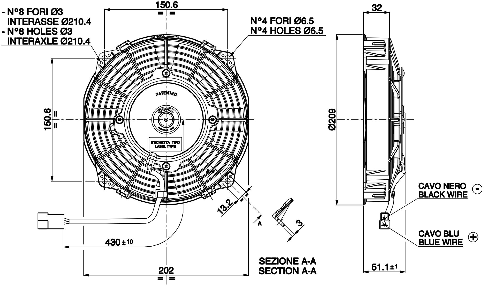 vehicle radiator fan 6 5 u0026quot  va22 c