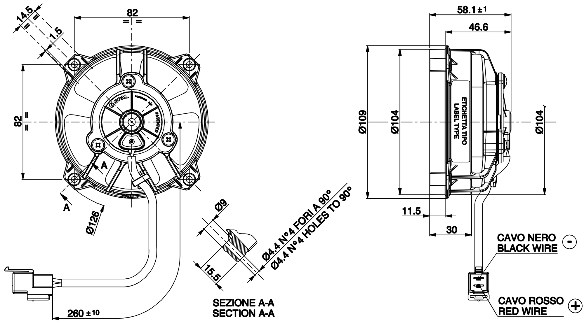 VA32-A101-62 Dimensioned Drawing