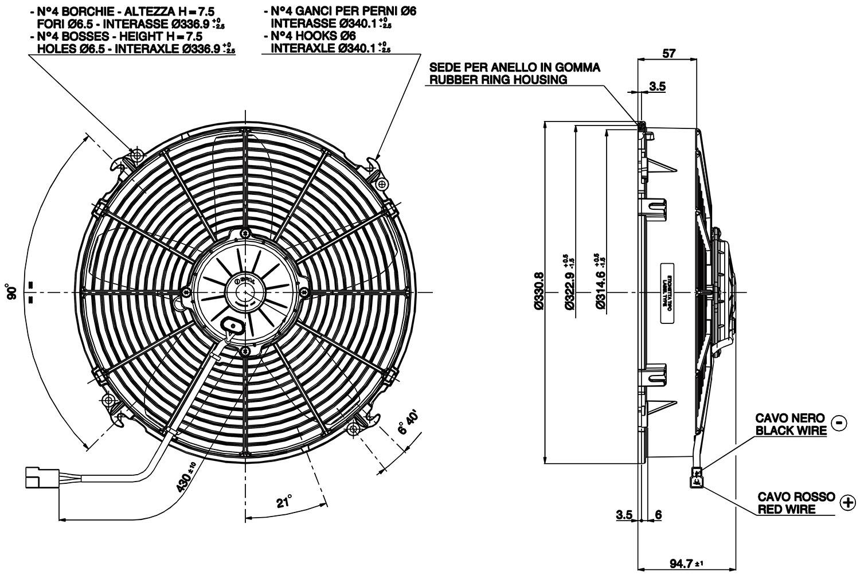 VA34-AP70LL-36A Dimensioned Drawing